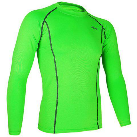 Unique Arsuxeo C19 Soft Cycling Jersey Bike Bicycle Racing Running Long Sleeve Clothes for Male -   Mobile