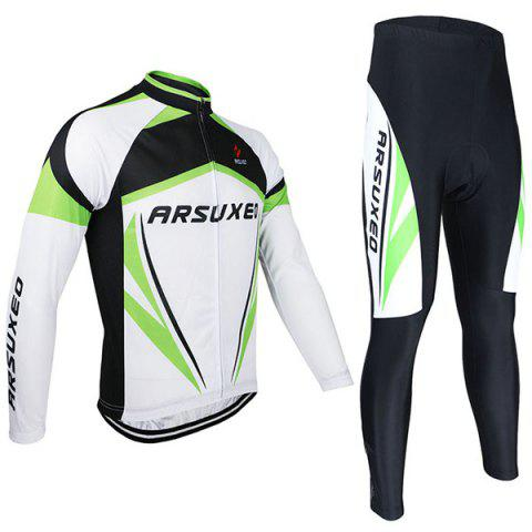 Trendy Arsuxeo ZLS06V Cycling Suits Jersey Jacket Pants Set Bike Bicycle Running Long Sleeve Clothes for Male -   Mobile