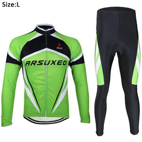 Fashion Arsuxeo ZLS06V Cycling Suits Jersey Jacket Pants Set Bike Bicycle Running Long Sleeve Clothes for Male -   Mobile