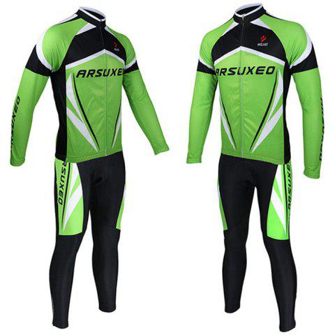 New Arsuxeo ZLS06V Cycling Suits Jersey Jacket Pants Set Bike Bicycle Running Long Sleeve Clothes for Male -   Mobile