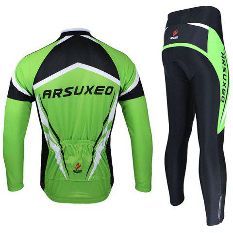 Cheap Arsuxeo ZLS06V Cycling Suits Jersey Jacket Pants Set Bike Bicycle Running Long Sleeve Clothes for Male -   Mobile