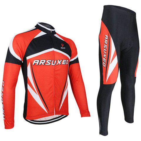 Shop Arsuxeo ZLS06V Cycling Suits Jersey Jacket Pants Set Bike Bicycle Running Long Sleeve Clothes for Male -   Mobile
