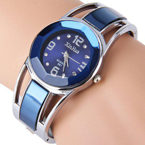 Latest Xinhua 681 Bracelet Style Quartz Watch with Rhinestone Dial Stainless Steel Band for Women