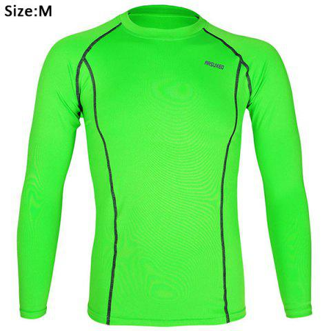 Latest Arsuxeo C19 Soft Cycling Jersey Bike Bicycle Racing Running Long Sleeve Clothes for Male -   Mobile