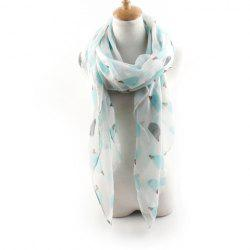 Cute Cartoon Hedgehog Print Scarf For Women -