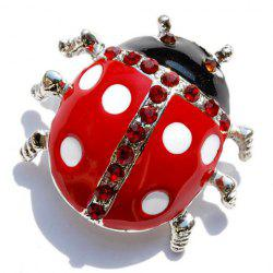 Rhinestone Embellished Ladybird Brooch - COLOR ASSORTED