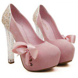 Stunning Crystal Heel and Sequined Design Women's Pumps - LIGHT PINK