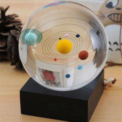 3D Object Solar System Planet Crystal Ball Gift for Astronomy Amateur -