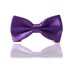 Chic Purple Bow Tie For Men - PURPLE
