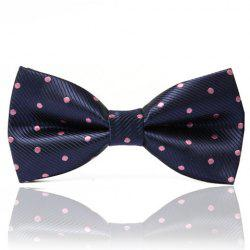 Chic Polka Dot Embroidery and Twill Design Satin Bow Tie For Men
