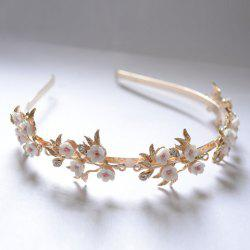 Retro Style Rhinestone and 3D Flower Embellished Hairband For Women
