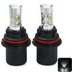 Sencart PX29T 9007 HB5 3100Lm 50W 10 x Cree XPE LED Car Bulb Running Light ( Pure White DC 12 - 24V 2 Pcs ) - COOL WHITE