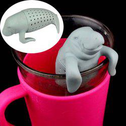Creative Seal Shape Tea Strainer Filter Silicone Teabags Household Gadget -