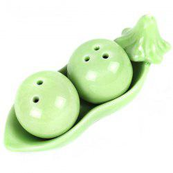 Pea Style Ceramic Seasoning Bottle Condiment Jar Kitchen Supplies Spice Tools - GREEN