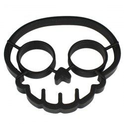 Silicone Skull Shape Style Egg Frying Mould Frying Pancake Mold Breakfast Mould for Kitchen Picnic DIY Helper - BLACK