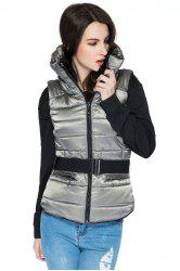 Funnel Collar Quilted Waistcoat