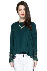 Lace Panel Layered Blouse
