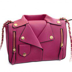 Retro Style Chain and Clothes Pattern Design Women's Crossbody Bag