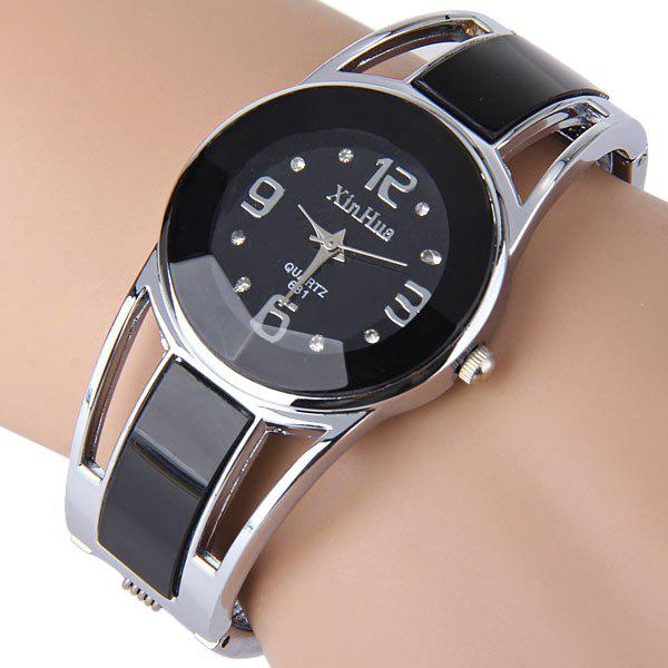 Shop Xinhua 681 Bracelet Style Quartz Watch with Rhinestone Dial Stainless Steel Band for Women