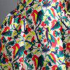 Vintage Flat Collar 3/4 Sleeves Print Ball Gown Dress For Women -