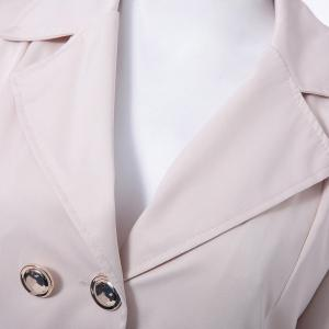 Fit and Flare Coat With Double Breasts - APRICOT M