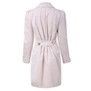 Fit and Flare Coat With Double Breasts - APRICOT L