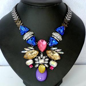 Statement Floral Beads Necklace