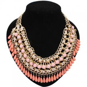 Retro Women's Drop Beads Weaved Necklace
