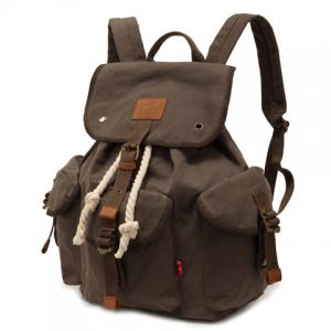 Trendy String and Buckle Design Men's Backpack - ARMY GREEN