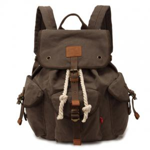 Trendy String and Buckle Design Men's Backpack - Army Green - Xl