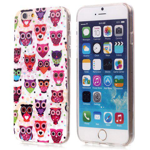 Outfit Stylish Shimmering Powder TPU Back Cover Case with Owl Pattern for iPhone 6 - 4.7 inches