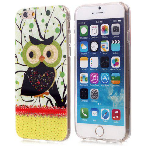 Latest Stylish Shimmering Powder TPU Back Cover Case with Owl Pattern for iPhone 6 - 4.7 inches