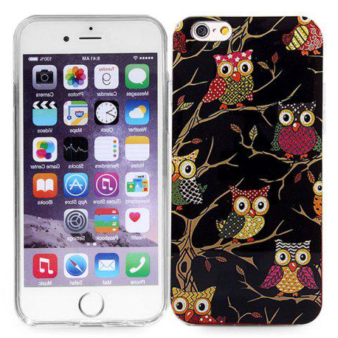 Sale Stylish TPU Back Cover Case of Owl Pattern for iPhone 6 / 6S - 4.7 inches