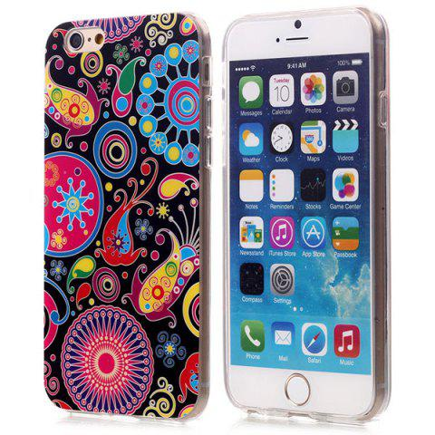 Store Stylish TPU Back Cover Case of Retro Flower Pattern for iPhone 6 - 4.7 inches