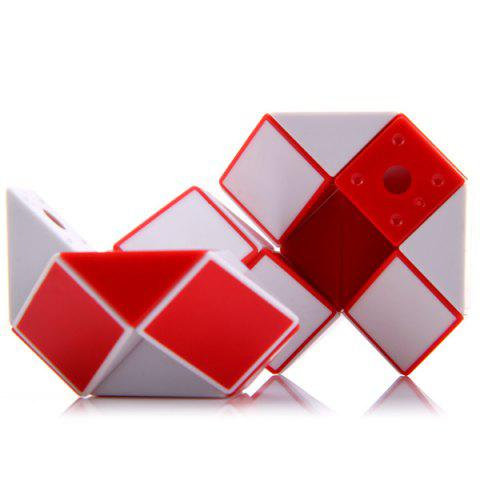 Sale SHS Creative 24 Blocks Magic Snake Ruler Educational Toy - RED WITH WHITE  Mobile