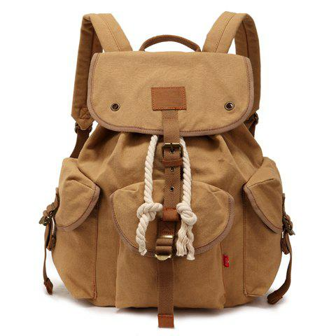 Cheap Trendy String and Buckle Design Men's Backpack