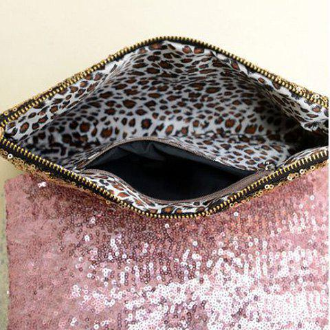 Fancy New Fashion Style Women's Sparkle Spangle Clutch Evening Bag - PINK  Mobile