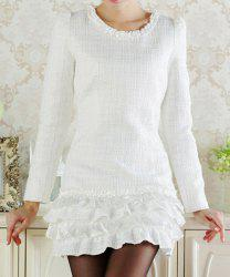Tier Ruffles Long Sleeve Tunic Dress