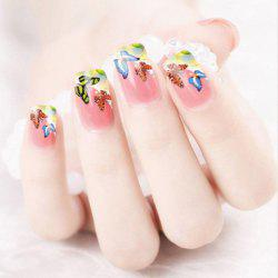 One Sheet Chic Colorful Butterfly Pattern Water Transfer Printing Nail Sticker