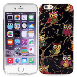 Stylish TPU Back Cover Case of Owl Pattern for iPhone 6 / 6S - 4.7 inches -
