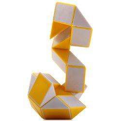 SHS Creative 24 Blocks Magic Snake Ruler Educational Toy - WHITE AND YELLOW