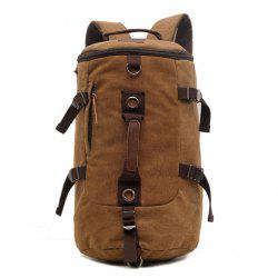 Trendy Canvas and Buckles Design Men's Backpack -