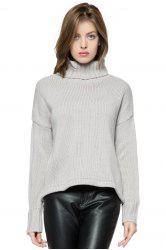 Simple Style Long Sleeve Turtle Neck Solid Color Women's Sweater