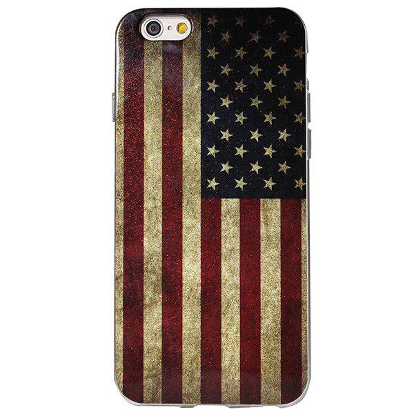 Stylish Shimmering Powder TPU Back Cover Case Stars Stripes Pattern iPhone 6 - 4.7 inches STARS AND STRIPES