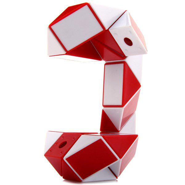 SHS Creative 24 Blocks Magic Snake Ruler Educational ToyHOME<br><br>Color: RED WITH WHITE; Brand: SHS; Type: Magic Cubes; Difficulty: Ruler; Material: Plastic; Age: Above 3 year-old;