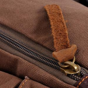 Casual Buckles and Canvas Design Men's Messenger Bag -