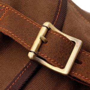 Fashionable Buckle and String Design Men's Backpack -