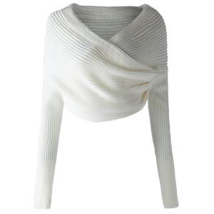 Stylish Long Sleeves Solid Color Asymmetric Sweater For Women -