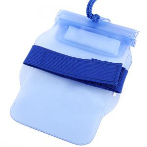 PVC Waterproof Sports Armband Pouch Case Arm Band Bag with Strap -