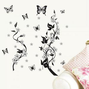 Butterfly and Vines Style Wall Sticker Home Appliances Decor Wall Decals -